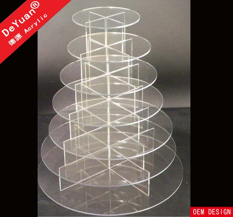 Square Cake Stands Tiered / Clear Cake Stand High Quality
