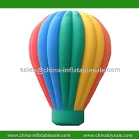 Advertising colorful inflatable rainbow floor balloon/ sky floating balloon