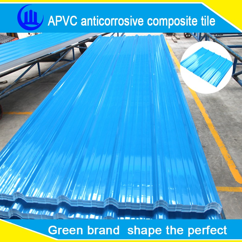 APVC plastic roof tile for home house /wood plastic composite roof tile/