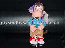 monkey shaped stuffed plush toy with clothes & pants
