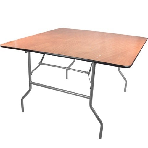4 ft Square Wooden Folding Banquet Table