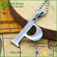 Stainless steel Fashion letter p pendant jewelry