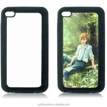 High quality DIY customized blank printing phone cases, TPU rubber sublimation phone case with metal insert