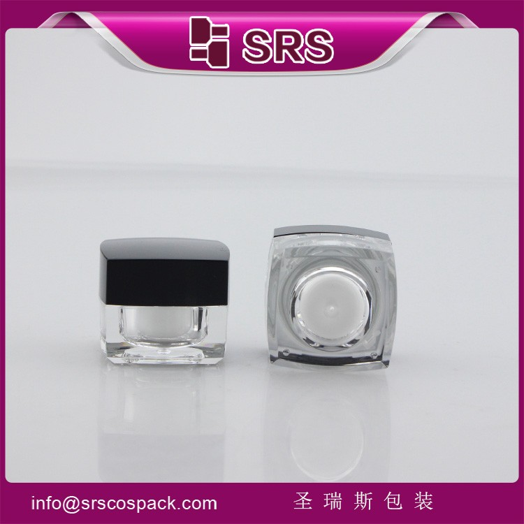 SRS free samples mini acrylic 5g cosmetic jar
