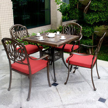 New Product Patio Waterproof Antique Garden Set, Cast Aluminum Garden Furniture, OutdoorTable and Chairs