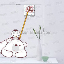 wall sticker clock Decorative bedroom wood lovely kids clock pictures