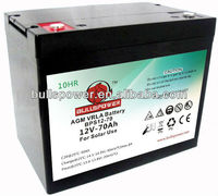 Deep cycle battery agm 12v 200ah wind power storage battery 12v 70ah