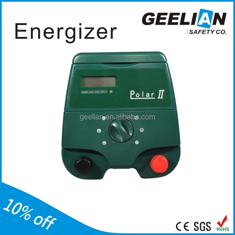 Solar power electric fence charger for cow fencing, flexible and portable livestock fence
