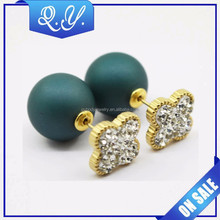 fashion shining magnetic industrial ear piercing crystal earring body jewelry 316L stainless steel ear piercing studs
