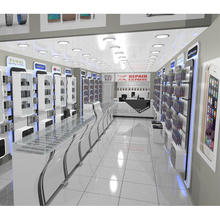 customized mobile phone shop furniture , retail store cell phone display showcase