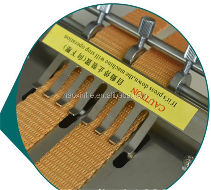 Polyester/Nylon webbing tape hot knife cutting machine