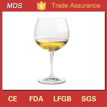 Wholesale short stem wide mouth wine glass for wine