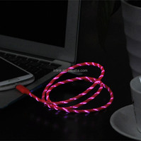 High Quality 80cm Red Light Micro USB Cable for Android Cell Phone Micro USB Data Cable