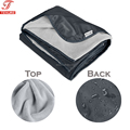 "Roll-up 58""x72 "" Warm Micro Plush Fleece Outdoor Stadium Rainproof Windproof Picnic Blanket Camping Blanket with Bag"