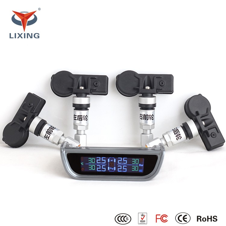Car Tire Pressure LCD Display Monitoring System Wireless TPMS Tire Pressure Monitor System+4 Internal Sensors