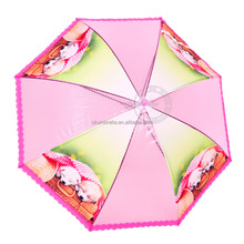 Promotion cute kid straight umbrella pink color