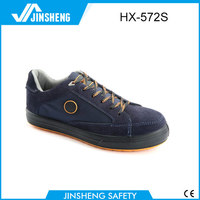 Ladys smart suede upper safety shoes