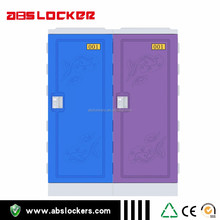 Factory Wholesale Low Cost Blue/Purple Plastic Lockers For Gym
