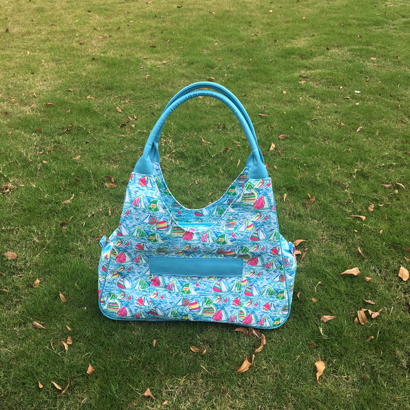 DM 420 wholesale 2017 hot selling Beach Bag Canvas Tote personalized ladiesfashion travel weekender bag Lilly pulitzer