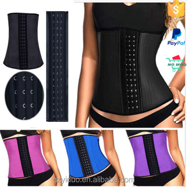 New Waist Trainer With 100% Natrual Latex Material And 9 Steel Bones For Women