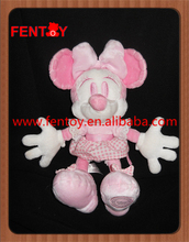 Soft pink mini mouse high quality stuffed animal