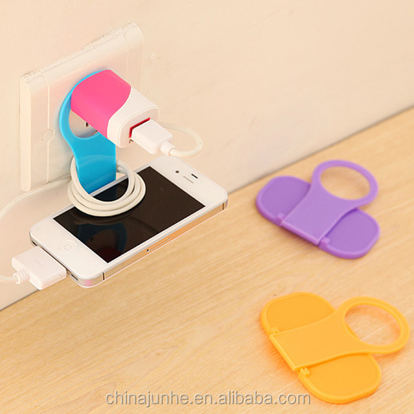 Promotional PP Folding Mobile Phone Charger Holder/ Wall Charger Holder