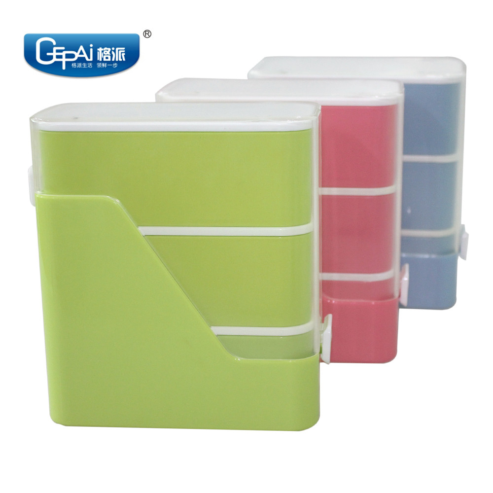 Unique book shape design Japanese bento lunch box with dividers leak prooof