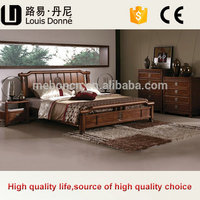 European Style Luxury Classic Design Solid Wood Double Bed