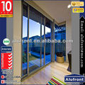 Thermal break aluminium double pane sliding glass doors with AS2208 Double Glazing Glass