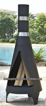 fire pit with chimney