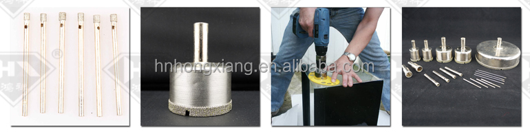 Electroplated diamond core drill bit for glass drilling