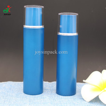 High Class Blue Leak Proof Light 100 ml 120 ml 4 oz Plastic Cylinder Custom Color PET Bottle with Acrylic Double Wall Cap