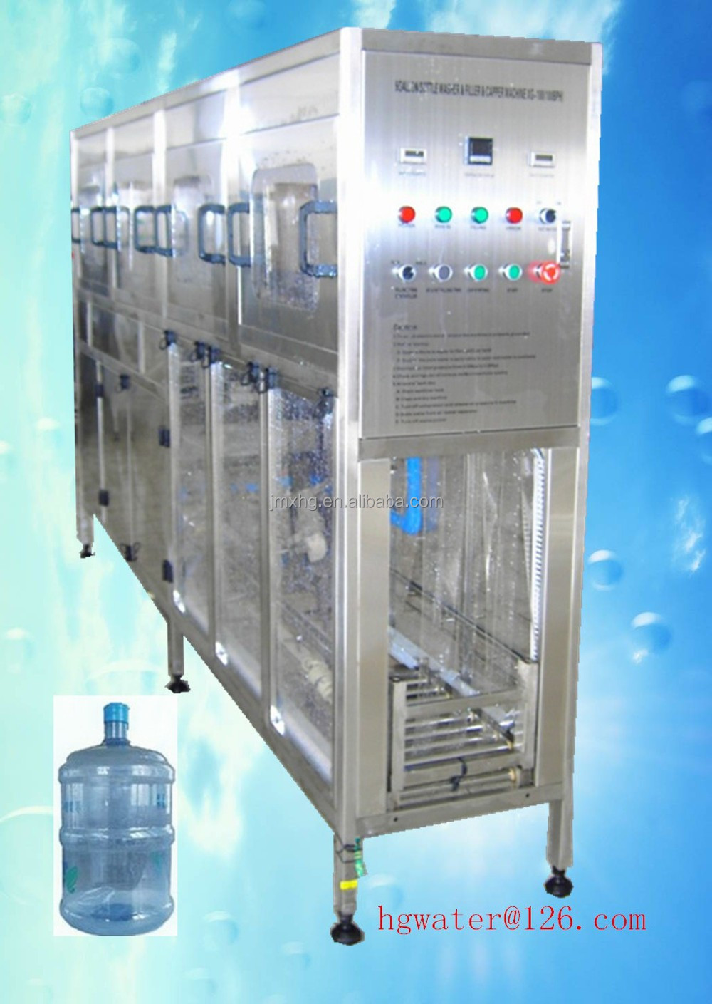 Factory surpplying XG-100(100BPH) model 5 gallon bottle filling machine