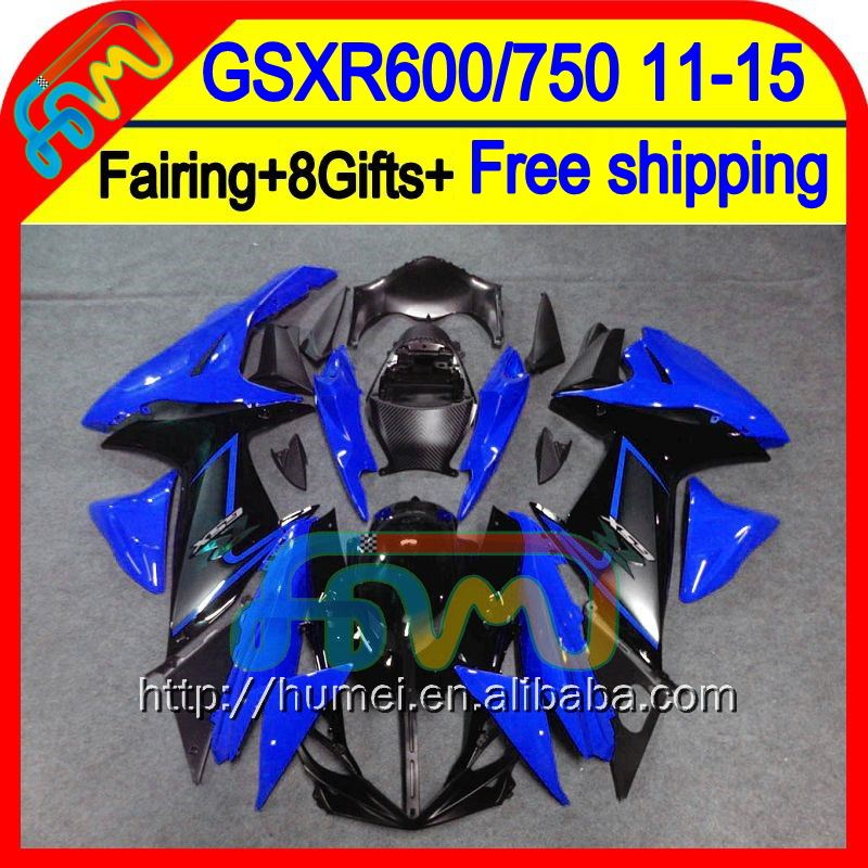 8Gifts Blue black For SUZUKI GSXR 600 2011 2012 2013 2014 16HM124 GSXR600 <strong>K11</strong> Gloss blue GSX R600 11 12 13 14 GSX-R600 Fairing