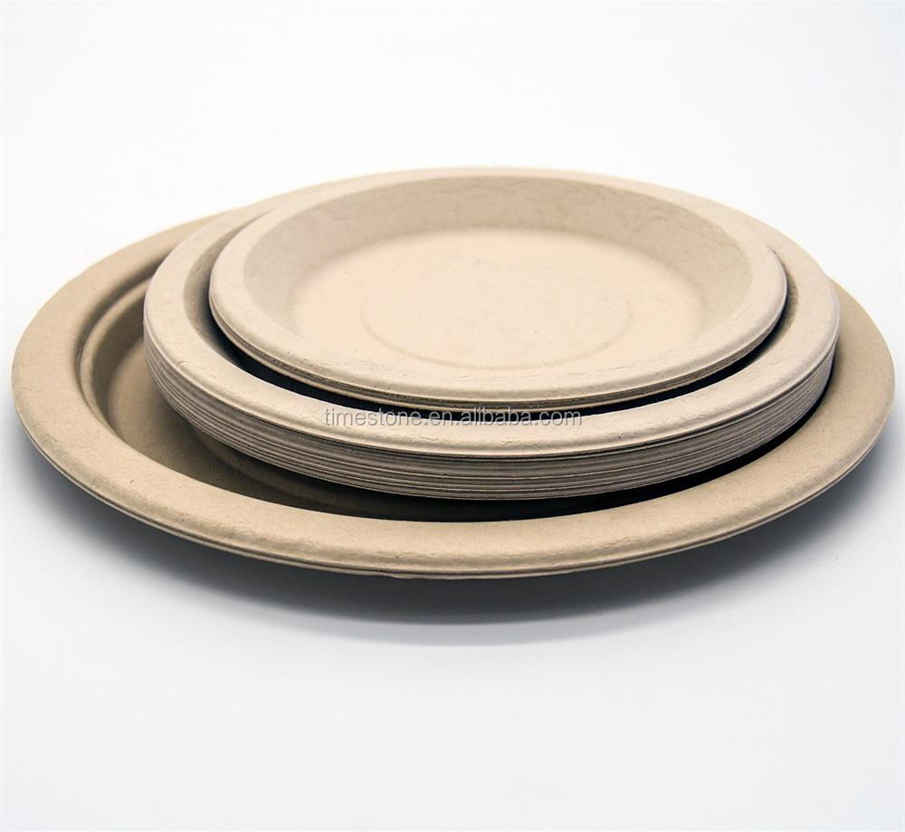 Wholesale Microwave Safe Disposable Natural Bamboo Plate for Restaurant Wedding Party