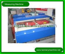 dry leather measuring machine in leather tannery processing