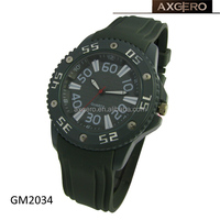 japan movt watch manual silicone strap watch men