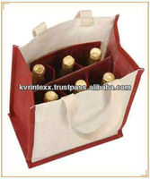 burlap wine bag 6 bottles