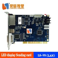 LISTEN V8 LED full color display sending card, used in the synchronous controller system