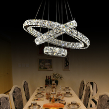 XingJun residential led chandelier crystals modern / new model steel fixture round crystal chandelier
