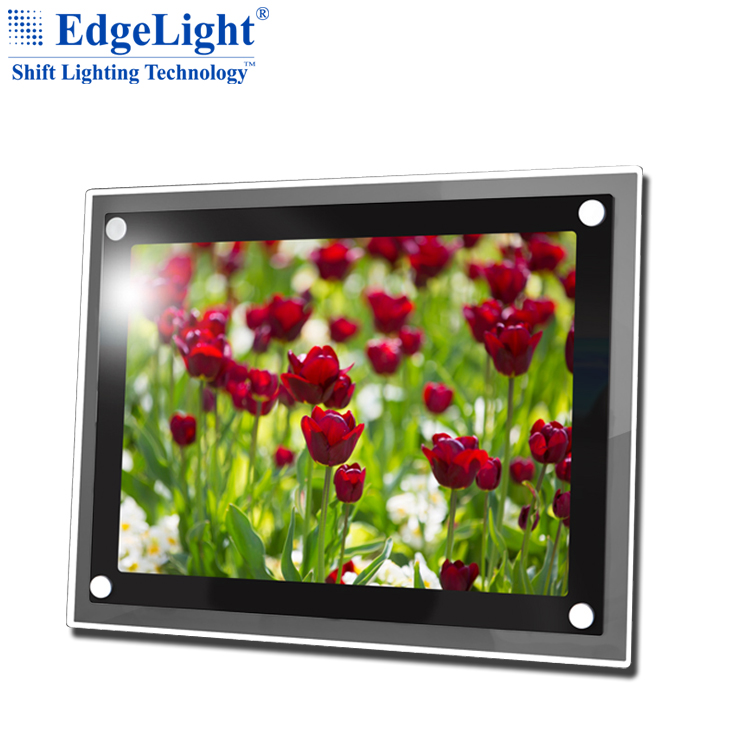 Edgelight crystal poster <strong>advertising</strong> display <strong>led</strong> lighting box <strong>frame</strong>