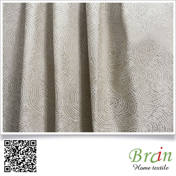 latest polyester embroidery cotton lace curtain fabric