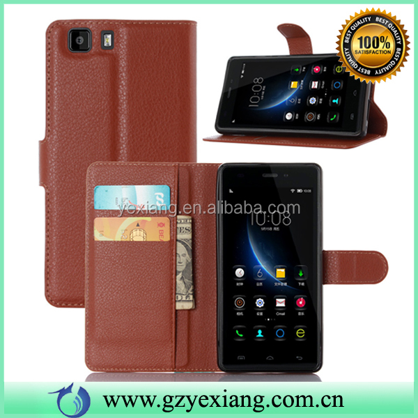 Luxury Flip PU Leather Card Slot Stand Back Cover Case For Doogee X5 Wallet