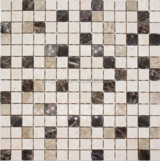 marble mix glass mosaic wall tiles (PMSC128)
