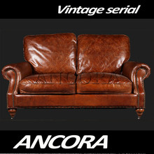 china Chesterfield aviator leather sofa AN-3016