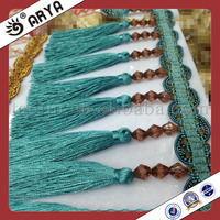 Green Long Curtain Tassel Fringe Trimming for Curtain also Home Textile,Garment Accessory