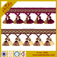 curtain and lampshade cotton curtain tassel fringe