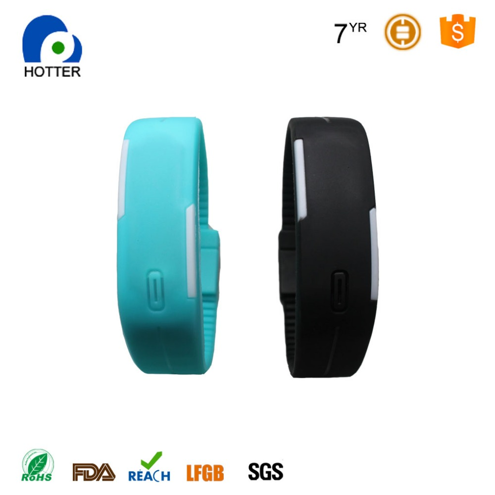 Custom cheap brand your own logo led silicone watch