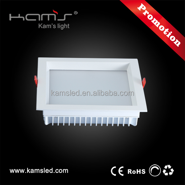 Good price three color temperature changing 23w recessed led square downlight