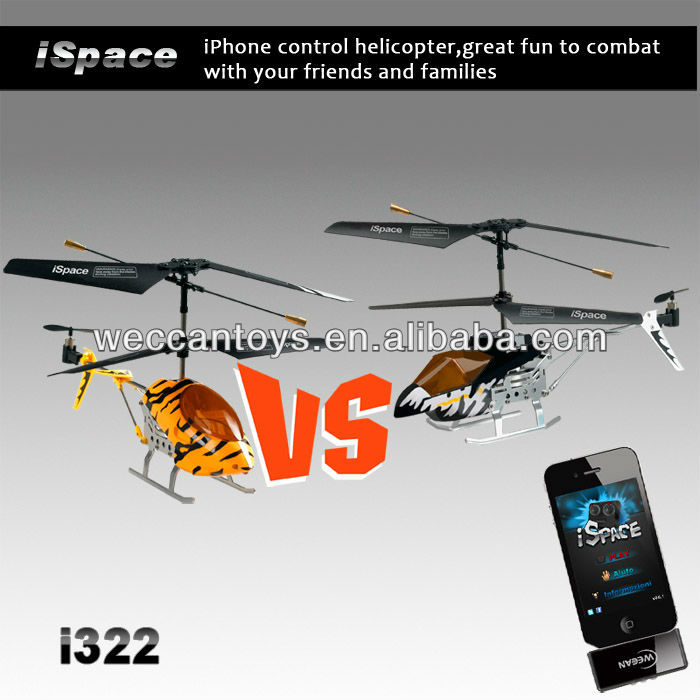 Promotion products! 3CH iPhone control combat helicopter with dongle